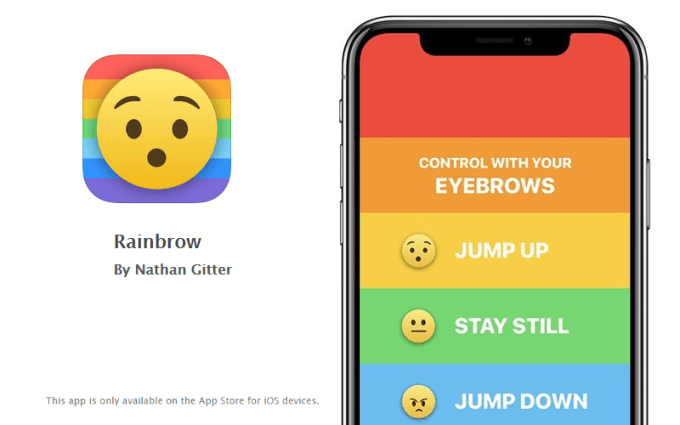 Rainbow iPhone X game (Face ID, True Depth)