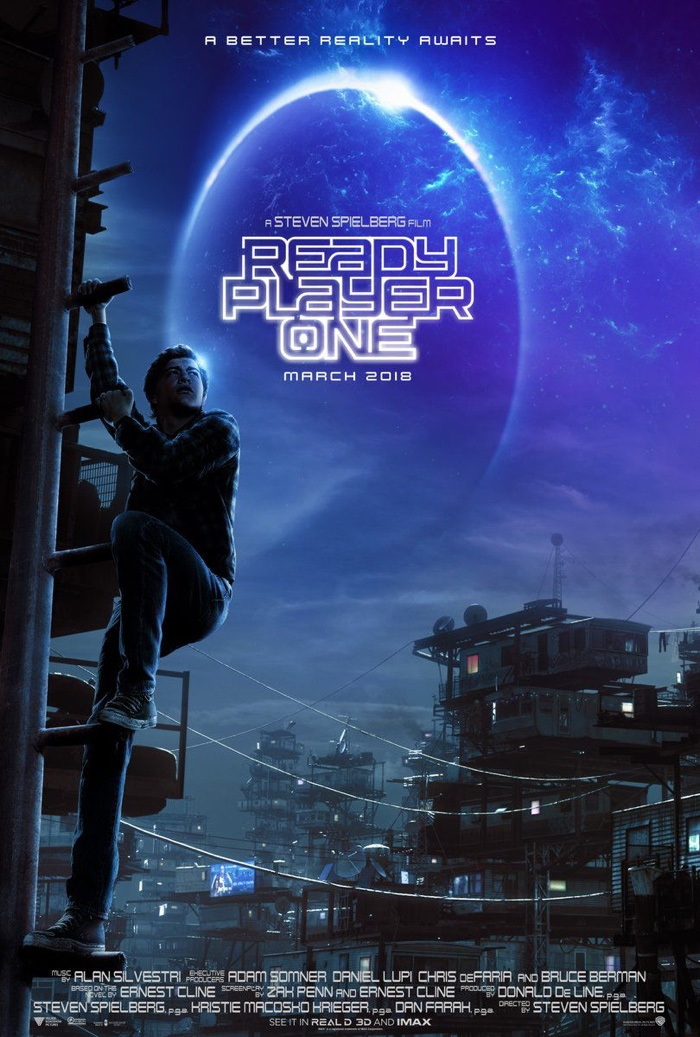 retro plakat do filmu: Ready Player One