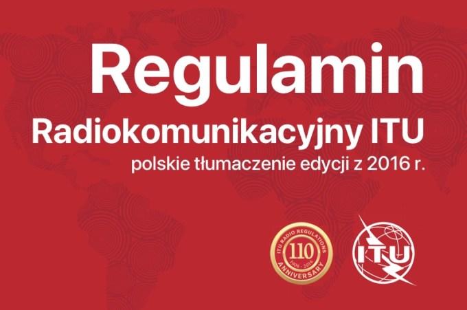 Regulamin Radiokomunikacyjny w języku polskim (edycja z 2016 r.)