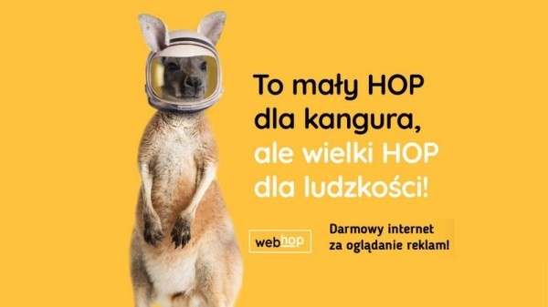 Dostęp do internetu od TVN za oglądanie reklam w WebHop