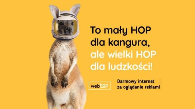 WebHop - darowy internet mobilny za oglądanie reklam od TVN-u