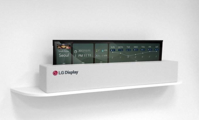 """Rolowany 65"""" ekran OLED 4K telewizora LG Display (zwinięty)"""