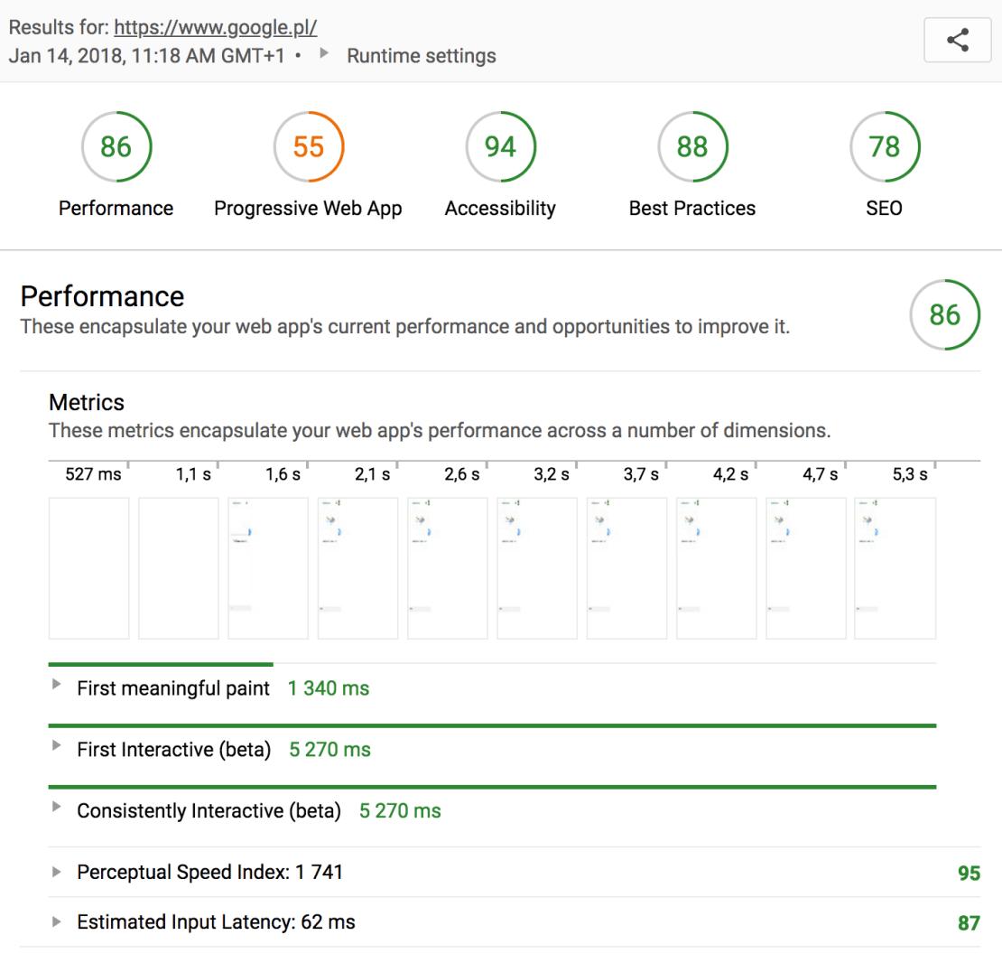 Audits Lighthouse Chrome - screen