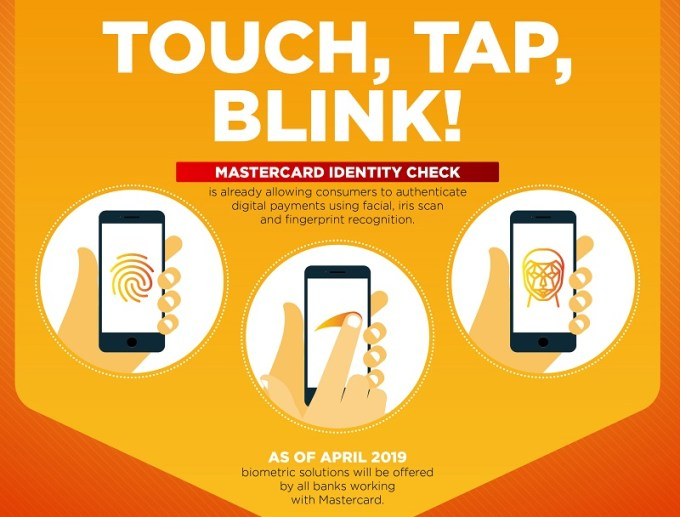Touch, Tap, Blink! - Mastercard biometria