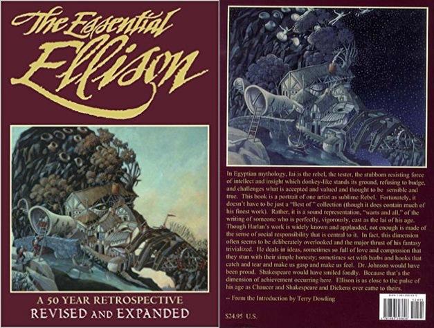 """Okładka oryginalnego wydania: """"The Essential Ellison: A 50 Year Retrospective"""""""