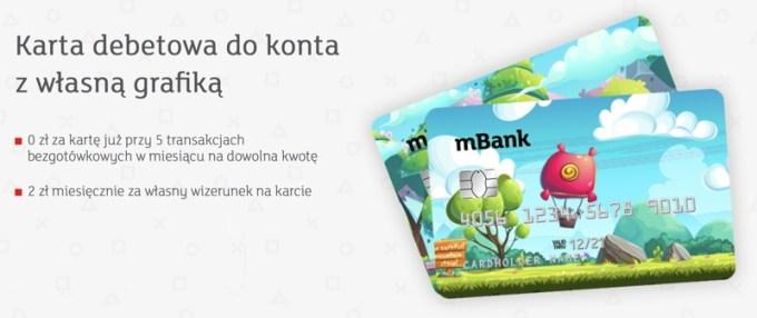 karta debetowa dla gracza (mBank) z własnym wizerunkiem