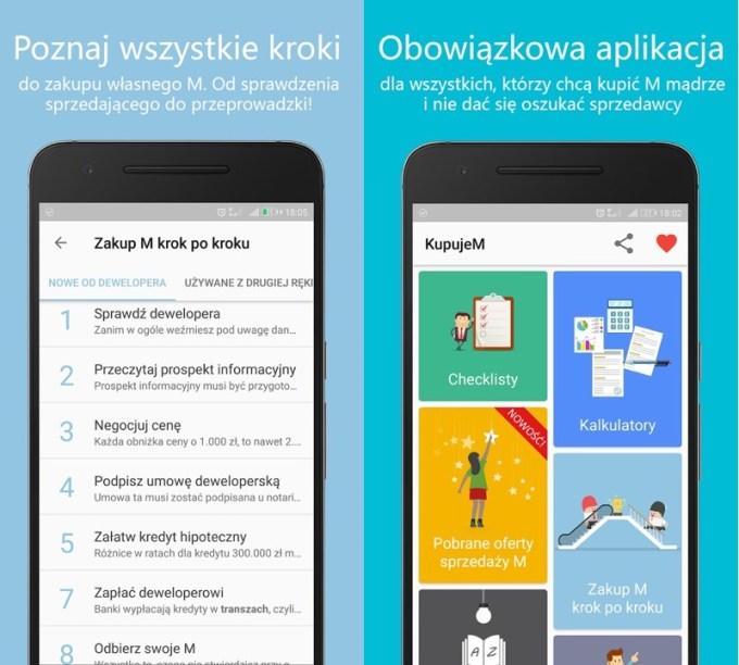 KupujeM - screeny aplikacji mobilnej
