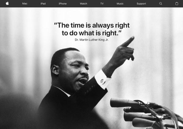Apple składa hołd Martinowi Lutherowi Kingowi Jr.