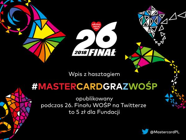 Pomagaj na Twitterze z Mastercard podczas 26. finału WOŚP