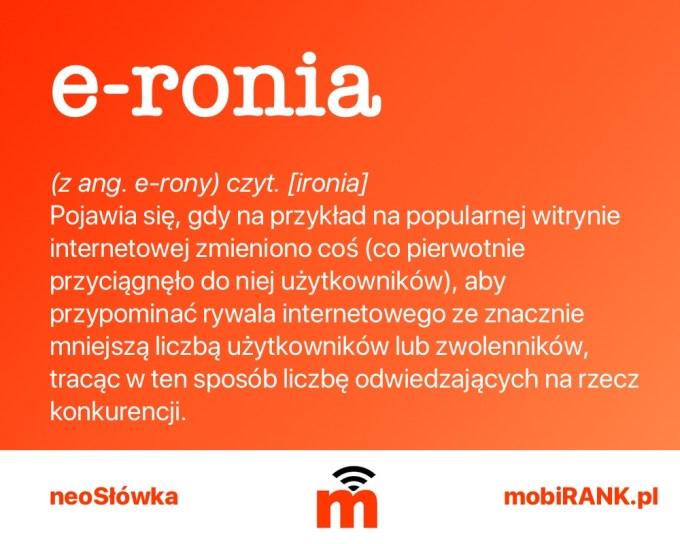 neoSłówka: e-ronia