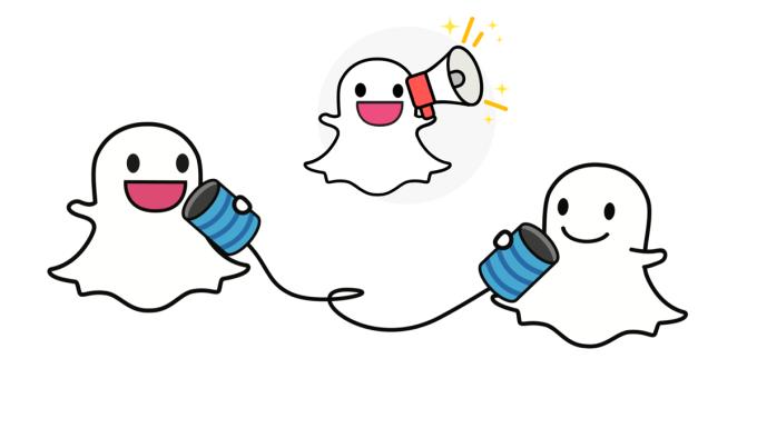 Udostępnianie snapów w aplikacji mobilnej Snapchat