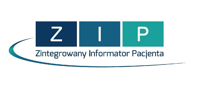 ZIP - Zintegrowany Informator Pacjenta (logo)