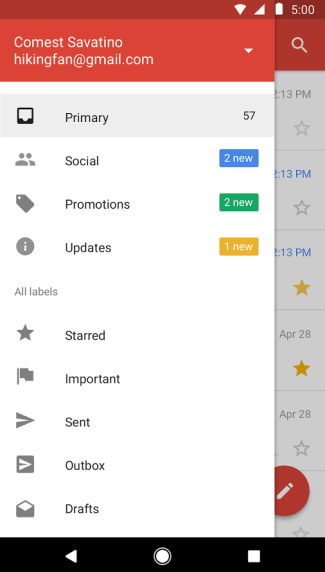 Gmail Go (screen)