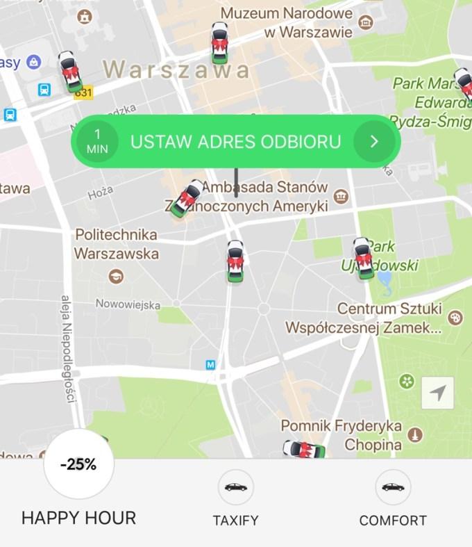 Happy Hour -25% w aplikacji Taxify