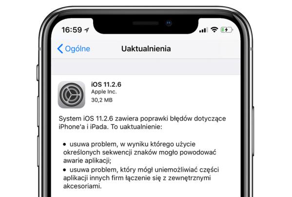 Uaktualnienie systemu iOS 11.2.6 już dostępne!