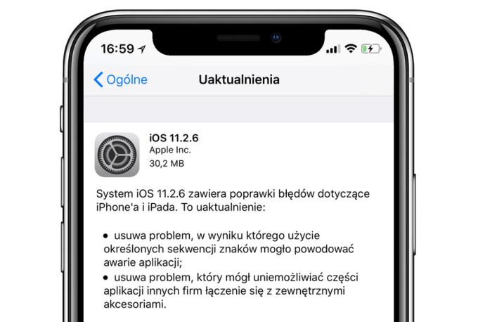 iOS 11.2.6 update OTA