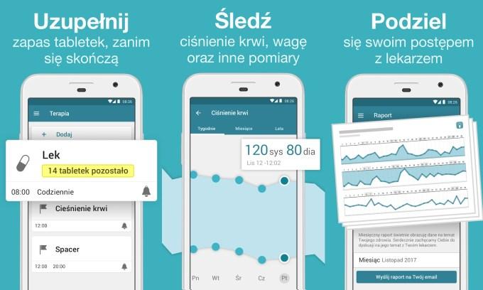 Aplikacja mobilna MyTherapy - Przypominanie o lekach - funkcje