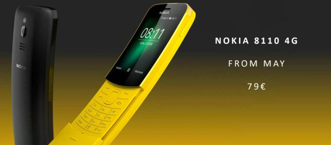 Nokia 8810 4G (banana yellow) 79 euro, maj 2018