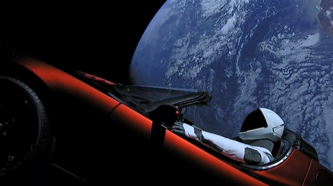 Tesla Roadster w kosmosie (SpaceX, Falcon Heavy, 2018)