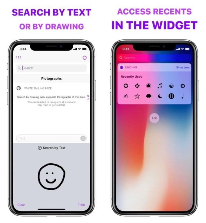 UniChar - wyszukiwanie rysunkiem i widget