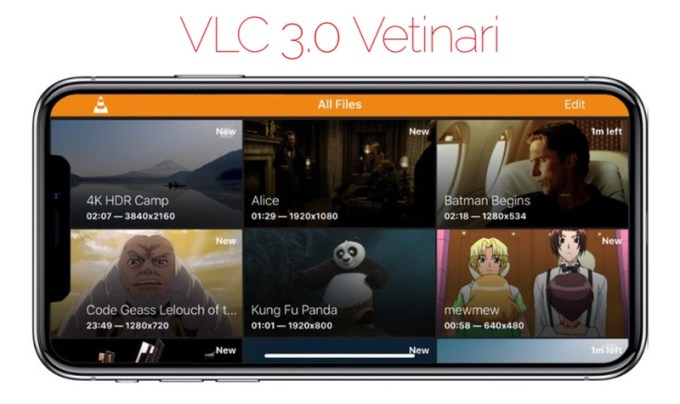 VLC 3.0 Vetinari (iPhone X)