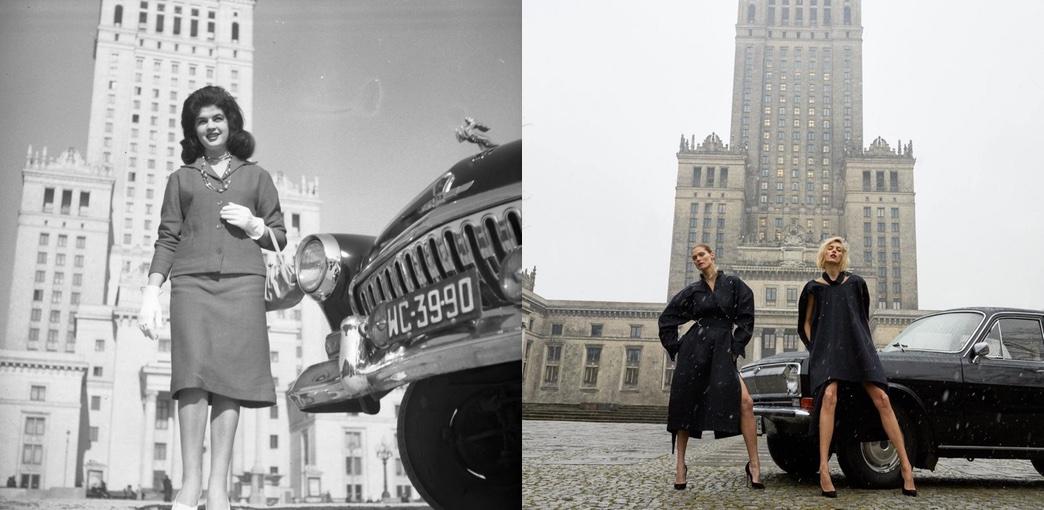Zdjęcie z 1960 roku a zdjęcie z okładki magazynu Vogue Polska z 2018 r.