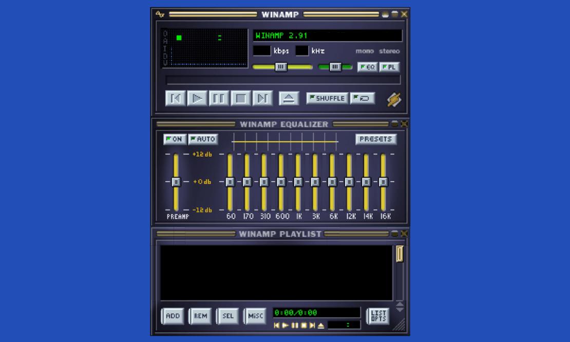 Emulator odtwarzacza Winamp (screen)