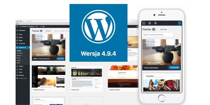Aktualizacja systemu WordPress 4.9.4