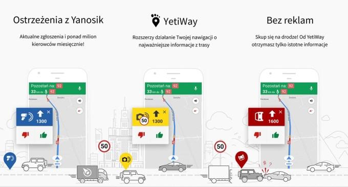 YetiWay - screen z aplikacji mobilnej
