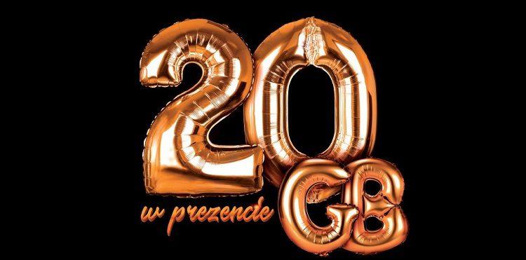 20 GB w prezencie z okazji 20-lecia Orange