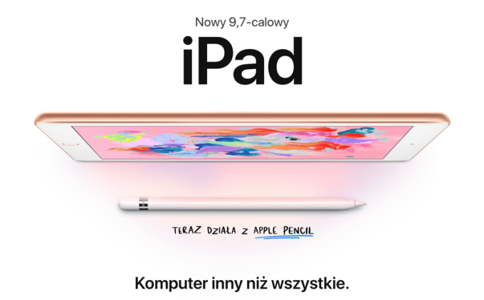 Nowy 9,7-calowy iPad ze wsparciem dla Apple Pencil