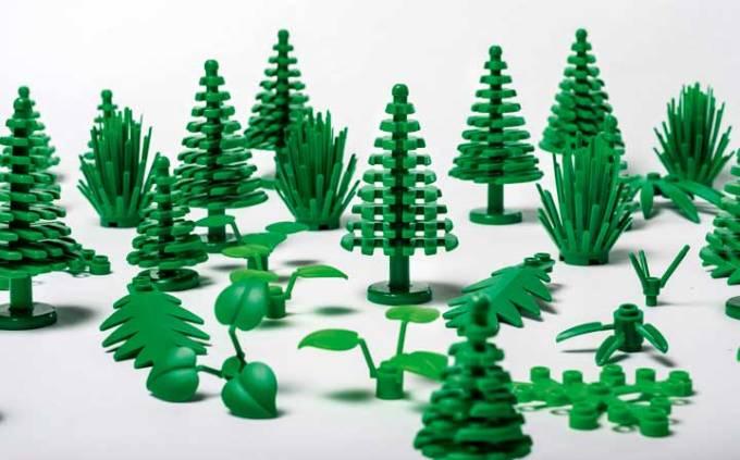 Elementy roślinne LEGO wykonane z bioplastiku