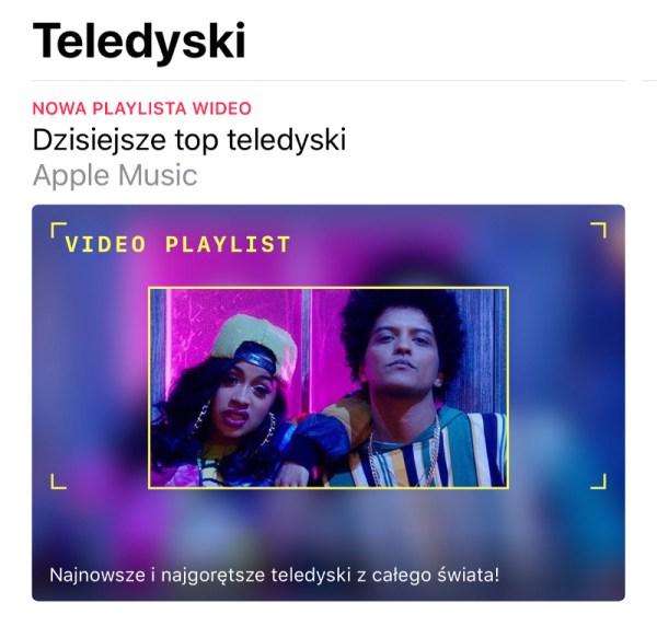 """W Apple Music pojawiła się nowa sekcja """"Teledyski"""""""