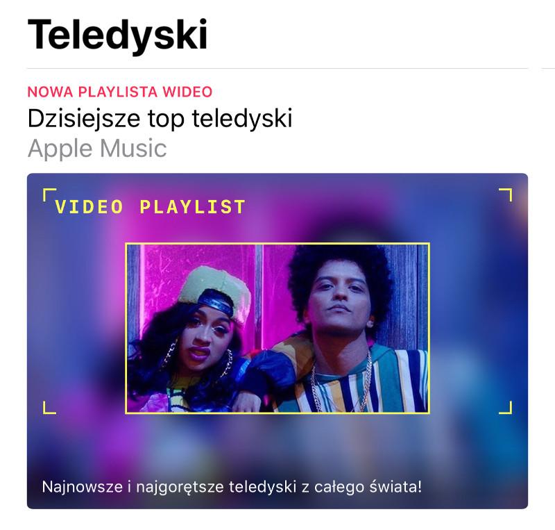 """Nowa sekcja """"Teledyski"""" w Apple Music"""