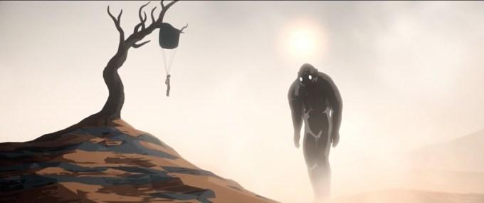"""Kadr z filmu animowanego """"Away"""" Gints Zilbalodis (2019)"""