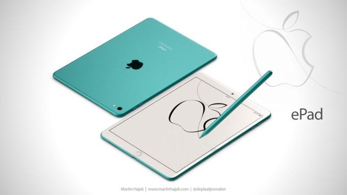 ePad zielony - iPad dla sektora edukacji (koncept by Martin Hajek)