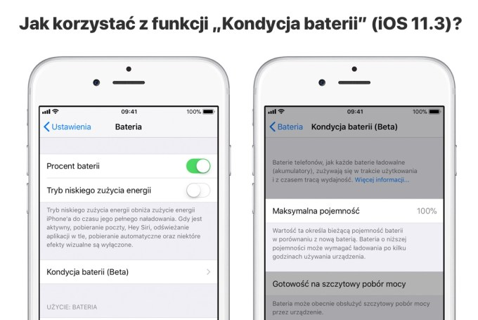 """Jak korzystać z funkcji """"Kondycja baterii"""" pod systemem iOS 11.3?"""