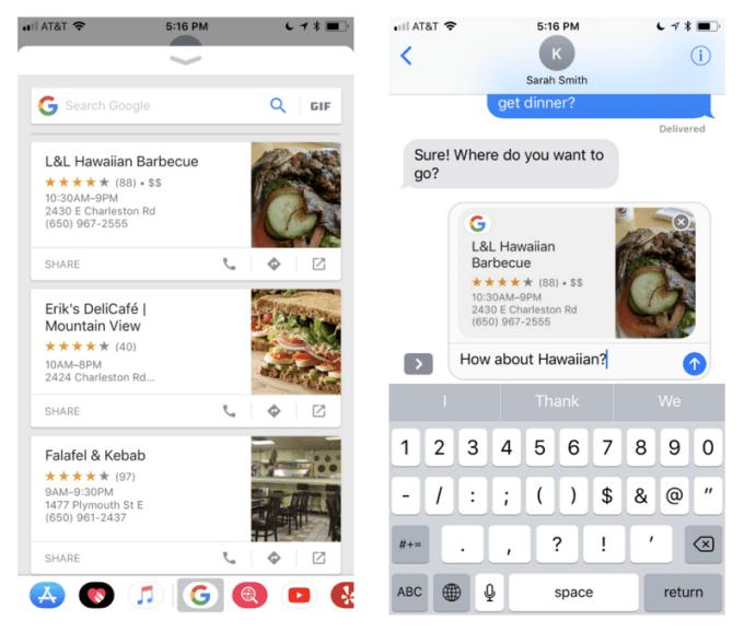 Rozszerzenie aplikacji Google na iOS-a