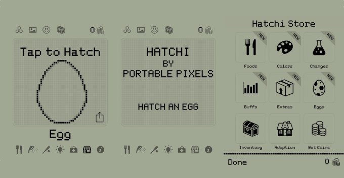 Hatchi - retro virtual pet (tamagotchi na smartfona)