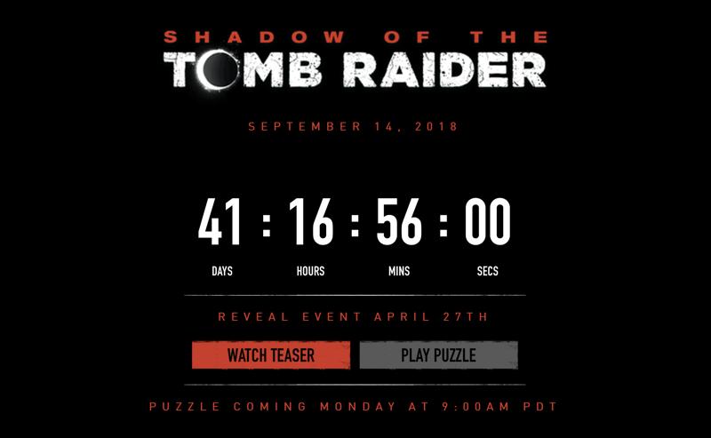 Licznik odmierzający czas do oficjalnej prezentacji nowej gry Tomb Raider