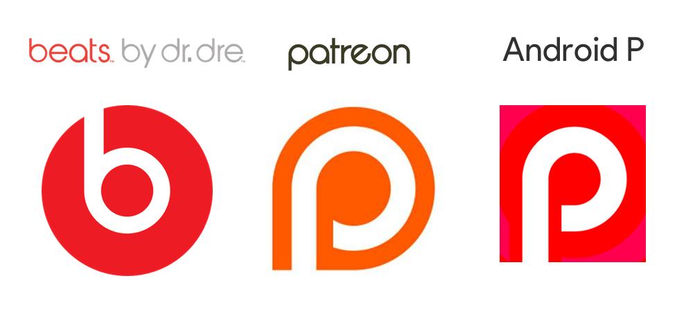 Logo Beats vs. Patreon vs. Android P (easter egg)