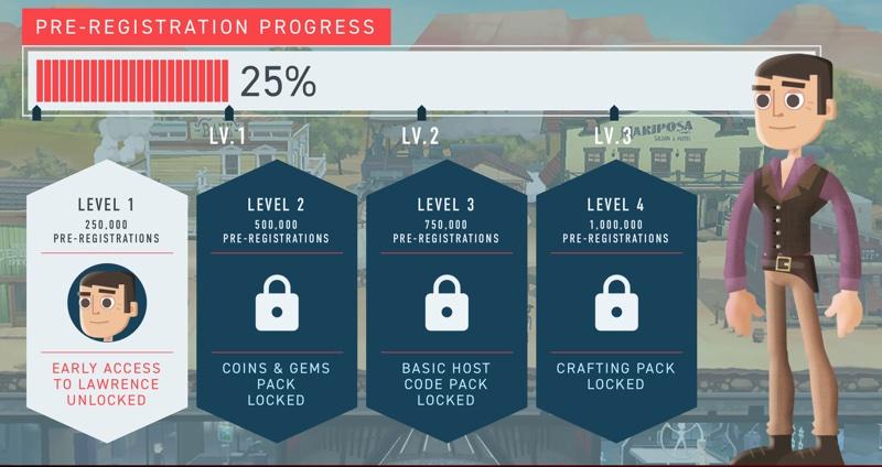 Westworld - preregistration - odblokowanie poziomów z nagrodami