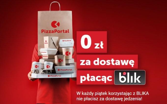 Bezpłatna dostawa na PizzaPortal.pl przy płatności BLIKIEM