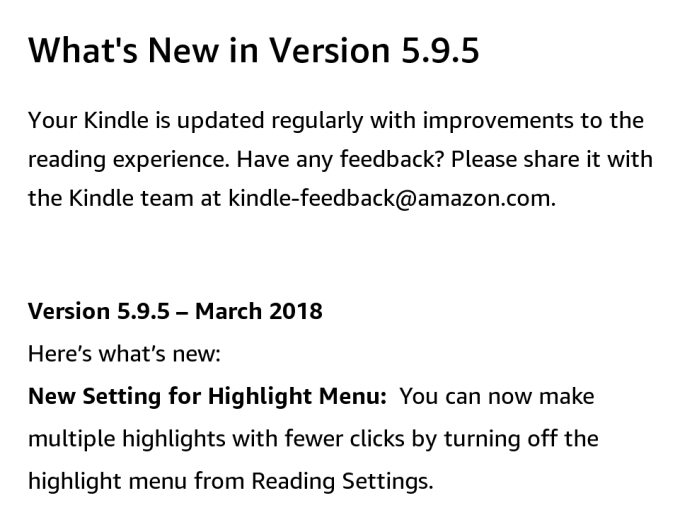 Co nowego Kindle 5.9.5