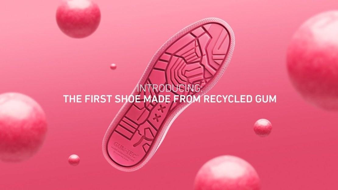 Gumshoe - trampki zrobione z recyklingowanej gumy do żucia