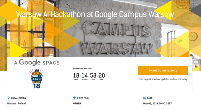 Warsaw AI Hackathon at Google Campus Warsaw