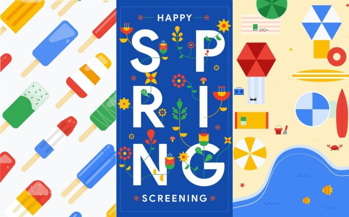 Happy Spring Screening (Google wallpapers)