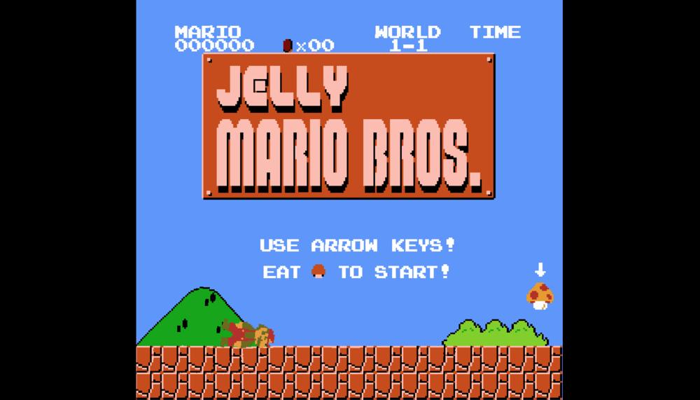Gra przeglądarkowa Jelly Mario Bros. (screen)