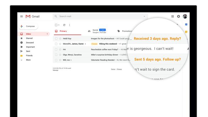GMail nowy interfejs i funkcje w przeglądarce