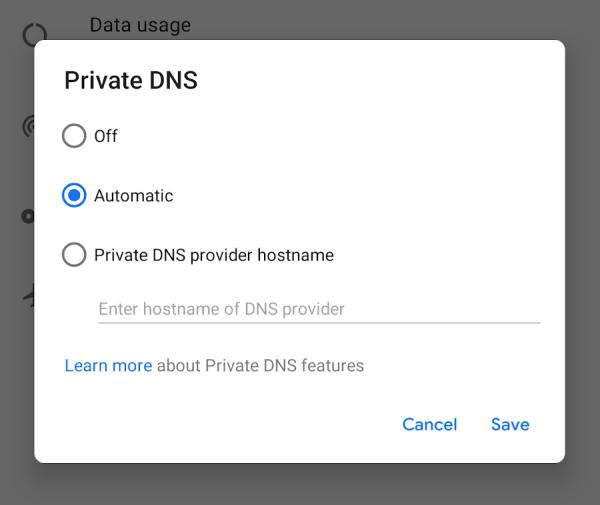 Google wyjaśnia działanie Prywatnego DNS w Androidzie P